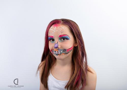 Neon gem skull