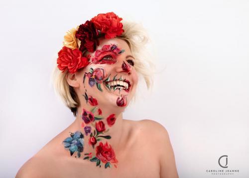 Halloween flower skull
