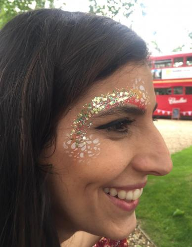 Festival glitter using bio-degradable glitters